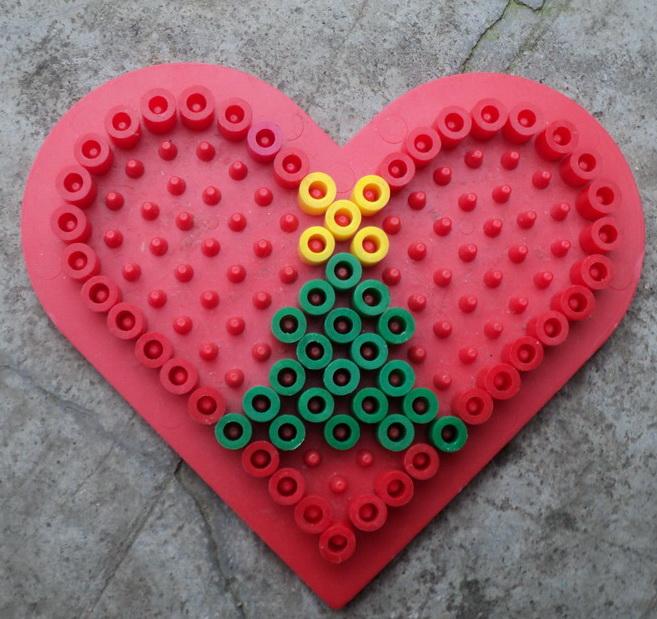 coeur en perle a repasser