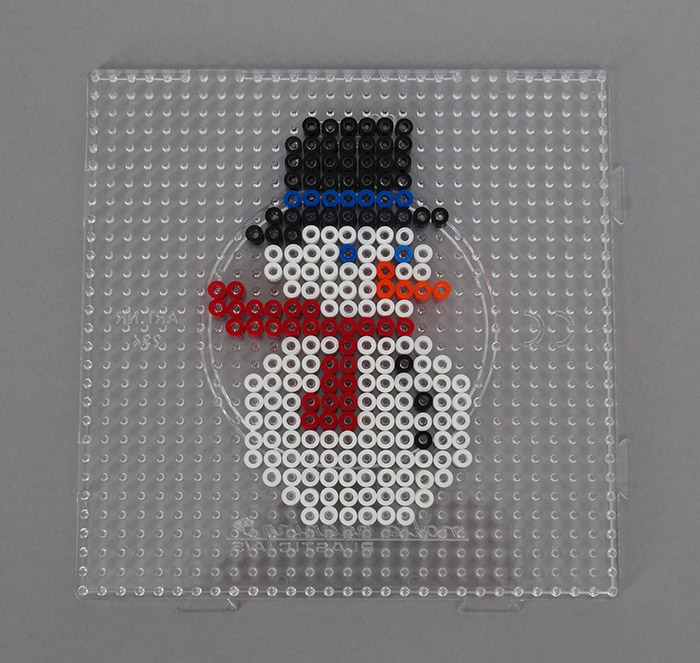 modele perle a repasser bonhomme de neige