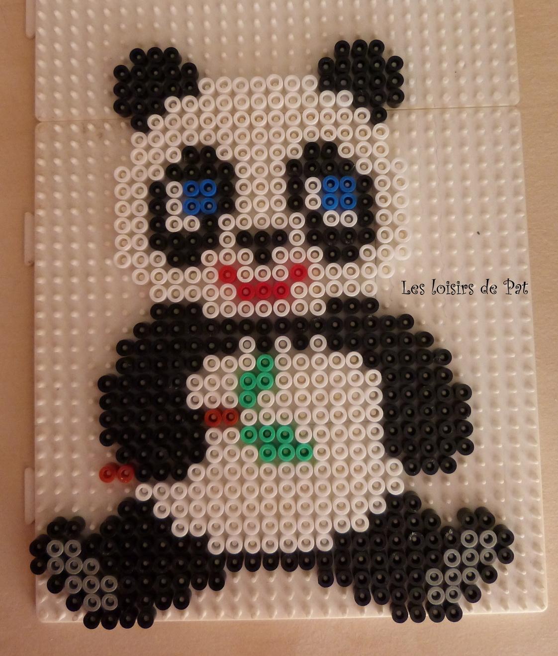 modele perle a repasser panda. Black Bedroom Furniture Sets. Home Design Ideas