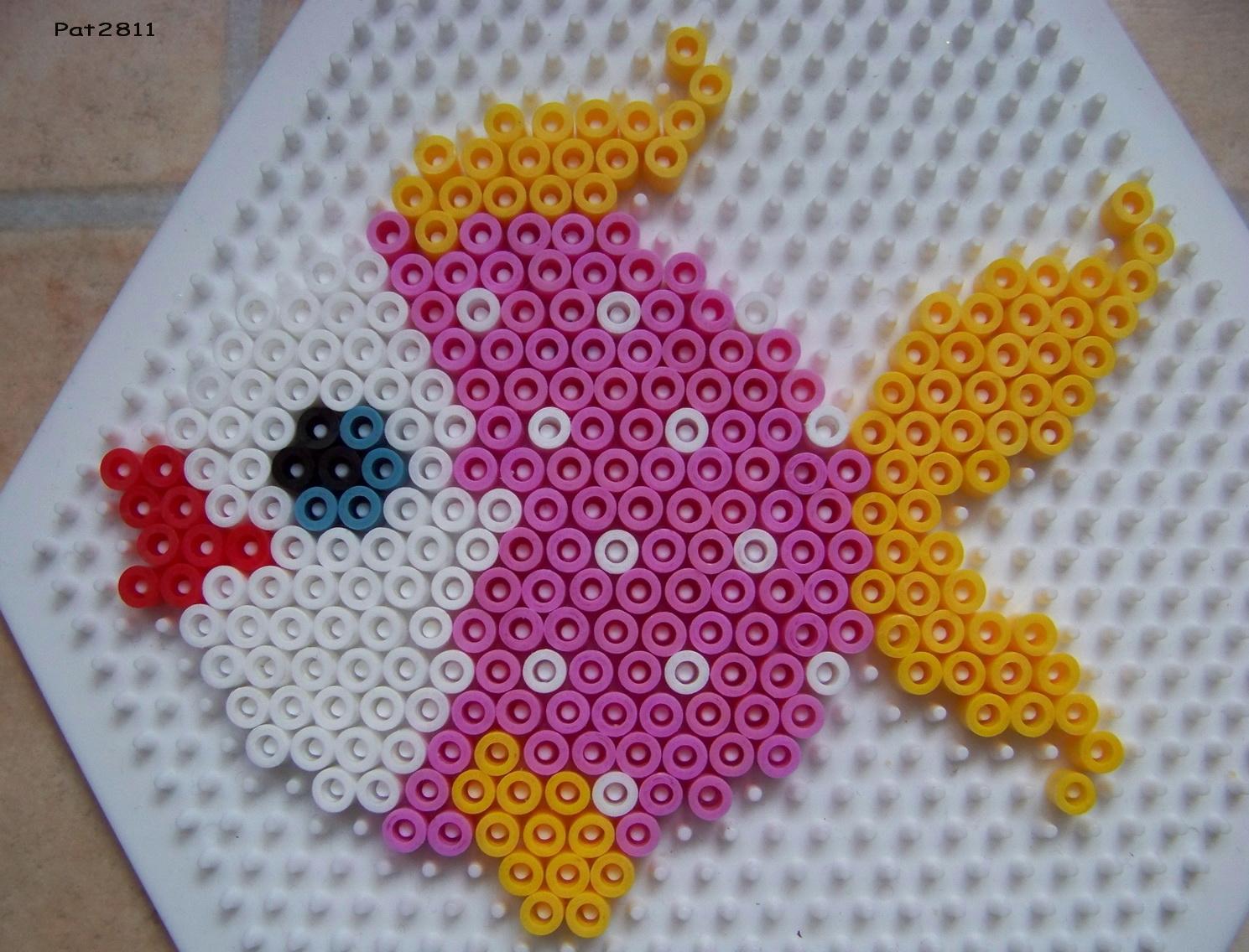 modele perle a repasser plaque hexagonale