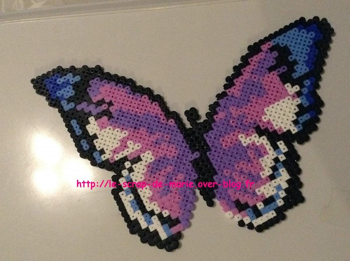 papillon en perle hama