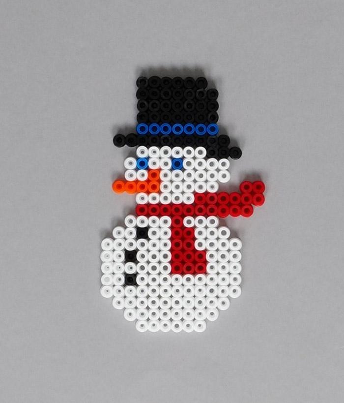 perle a repasser bonhomme de neige
