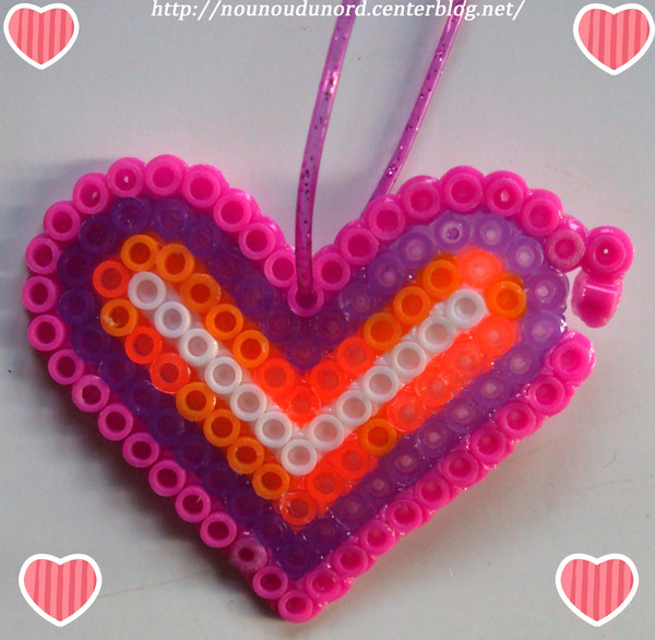 perle a repasser en forme de coeur