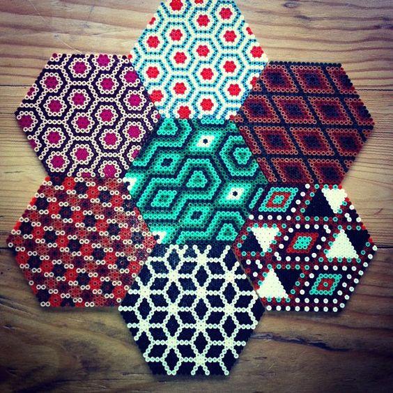 perle a repasser hexagone