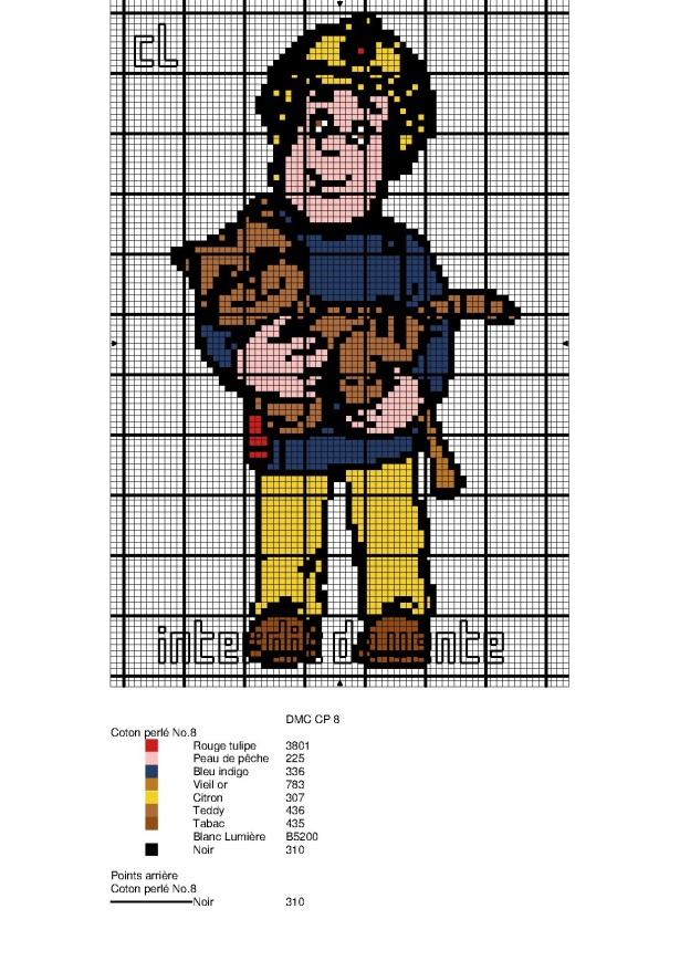 Dessin Pixel Art Pompier