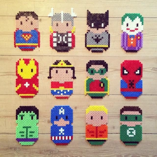 perle a repasser super heros
