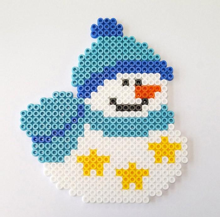 perle hama bonhomme de neige