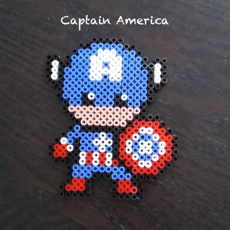 perle hama capitaine america. Black Bedroom Furniture Sets. Home Design Ideas