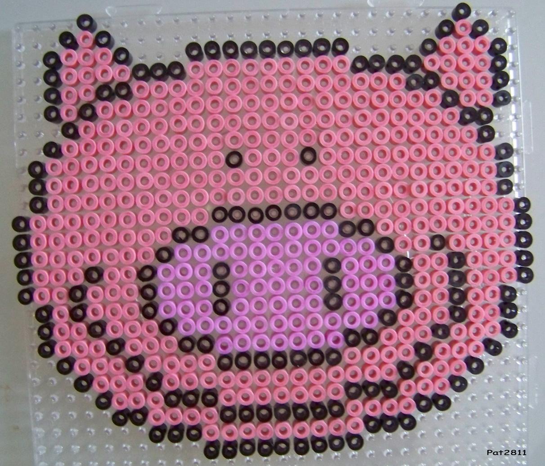perle hama cochon
