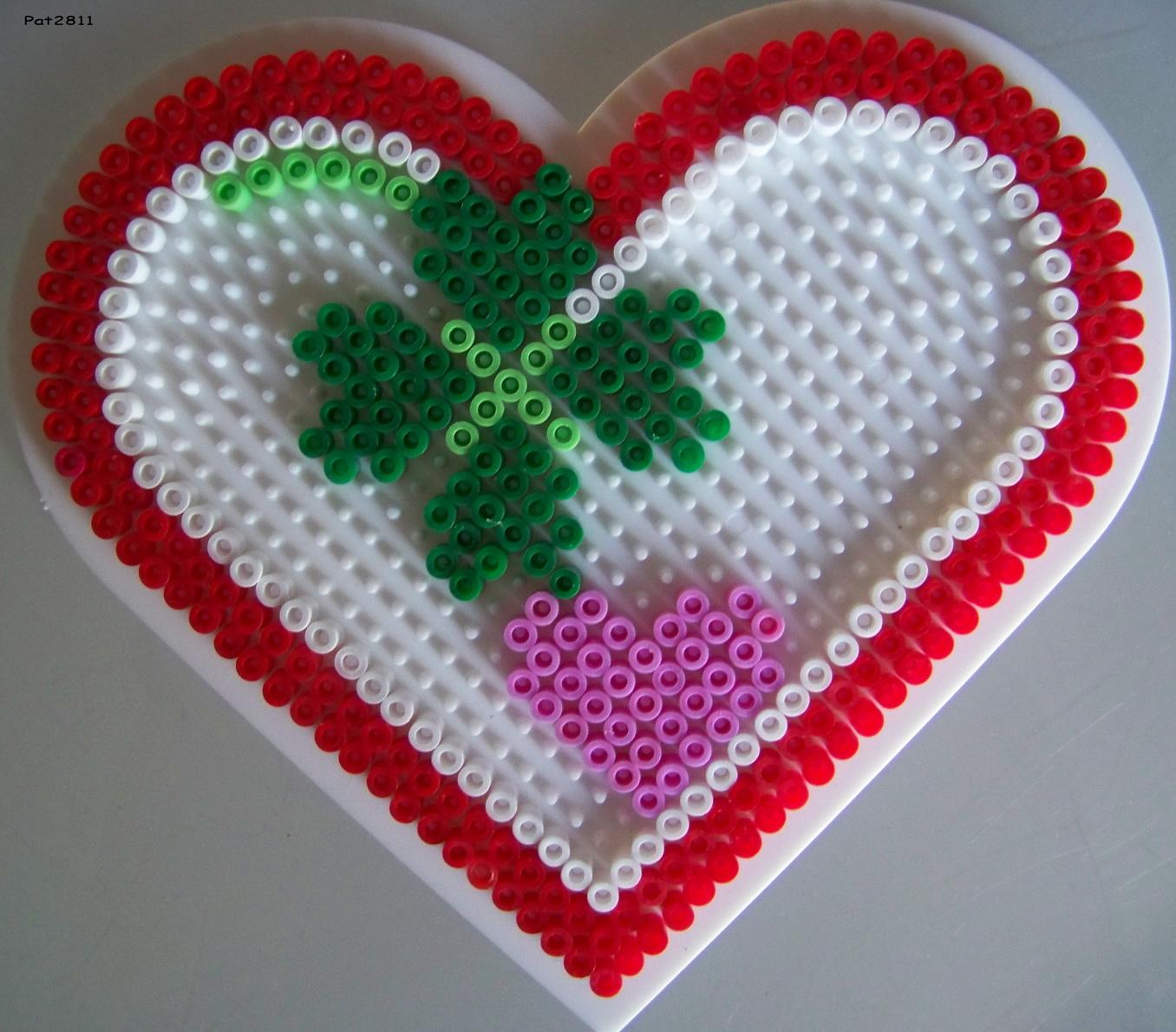 perle hama en coeur