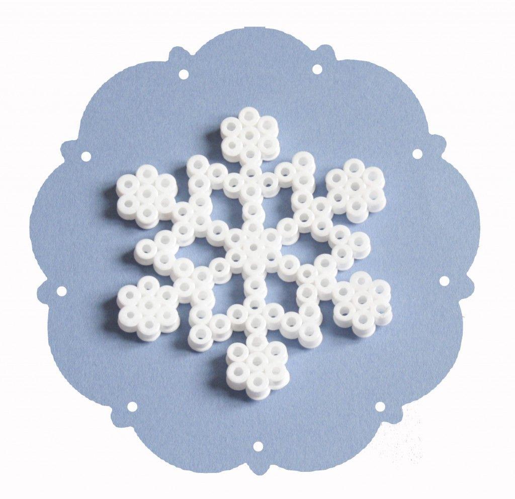 perle hama flocon de neige
