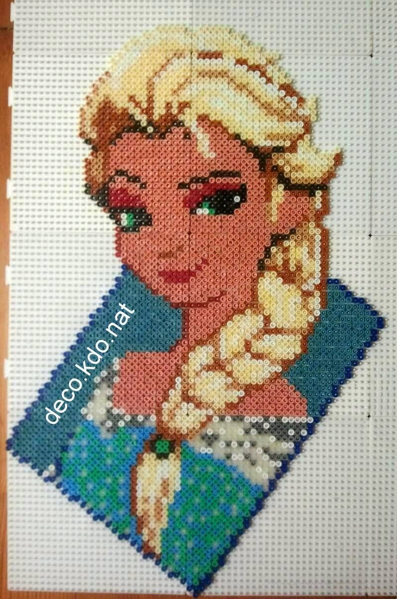 perle hama la reine des neiges