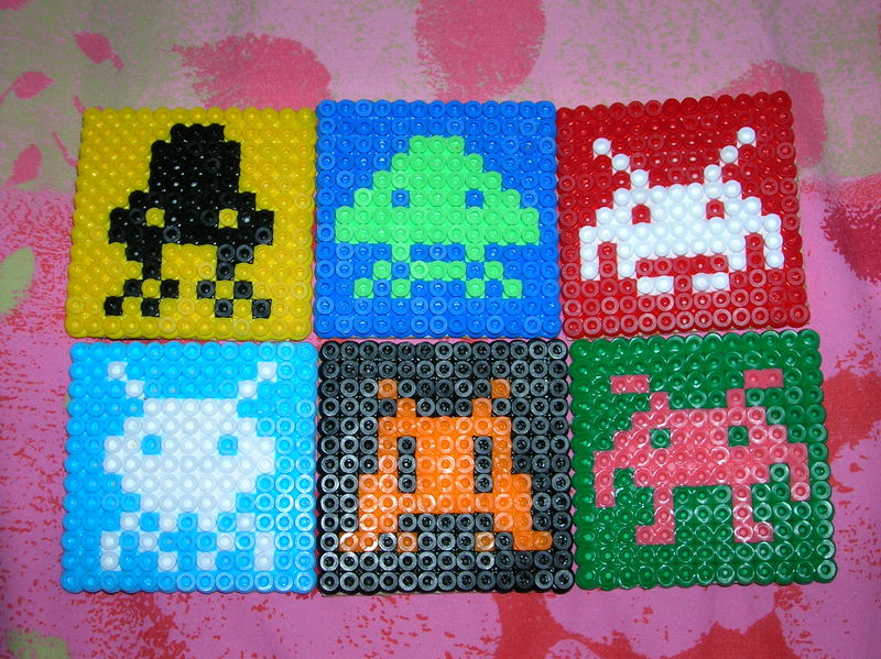 perle hama space invaders