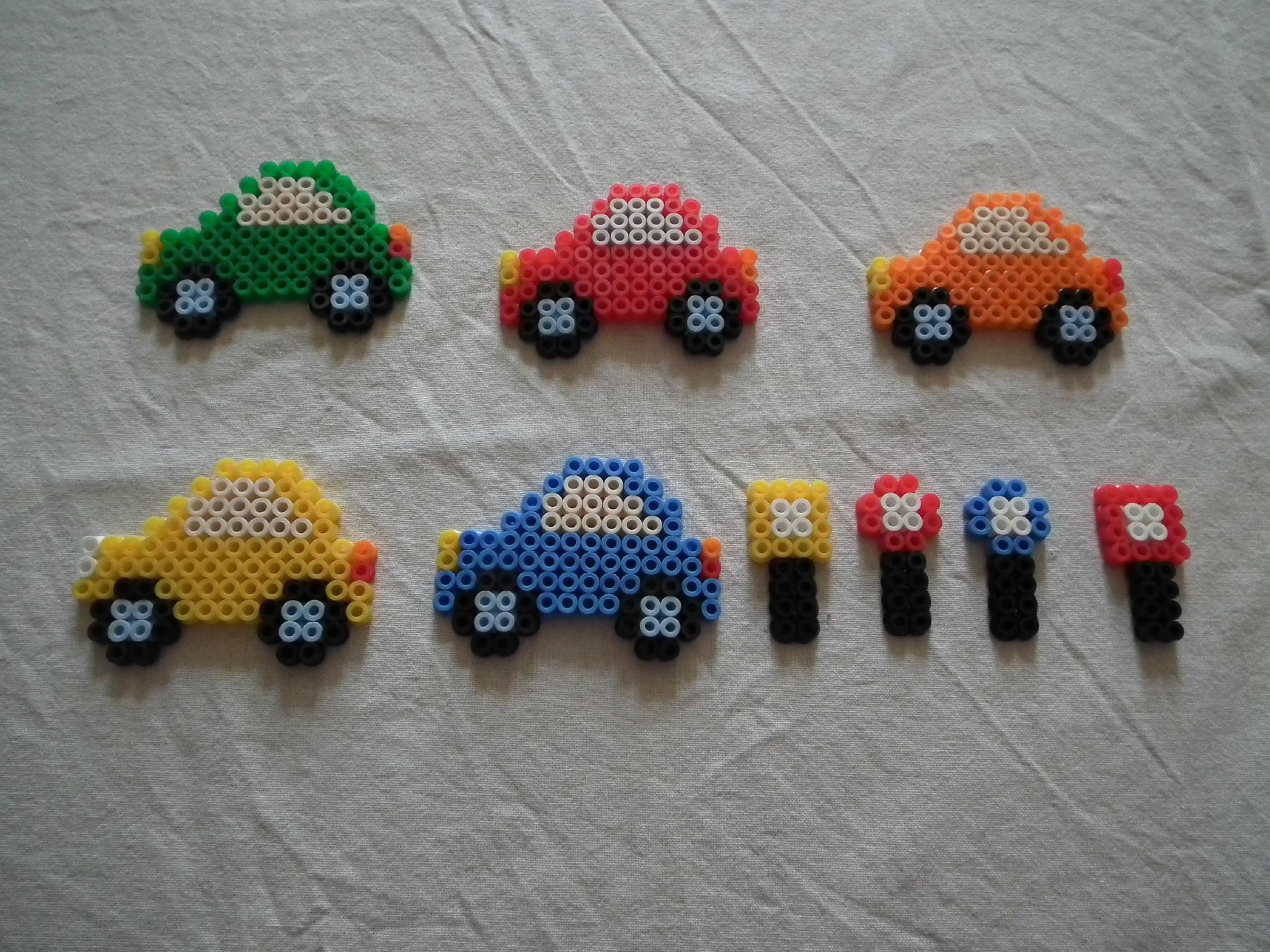 perle hama voiture