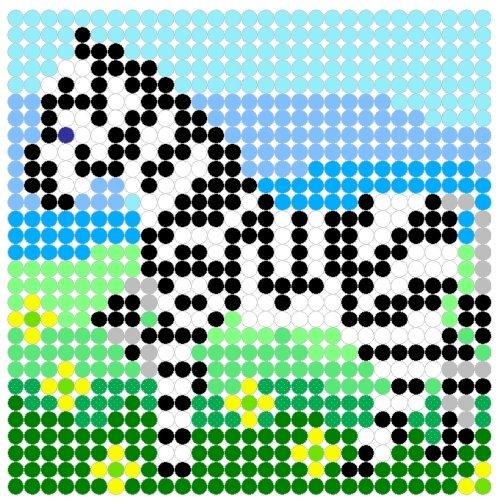 zebre perle hama
