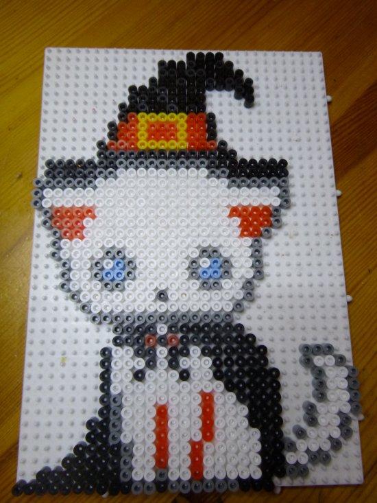 chat en perle hama