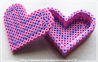 coeur en perle hama