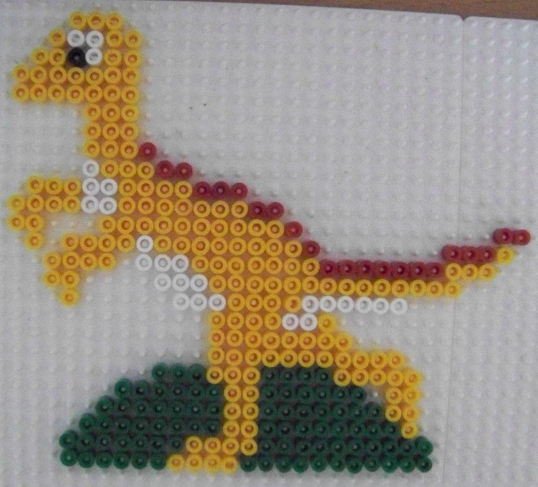 modele perle a repasser dinosaure