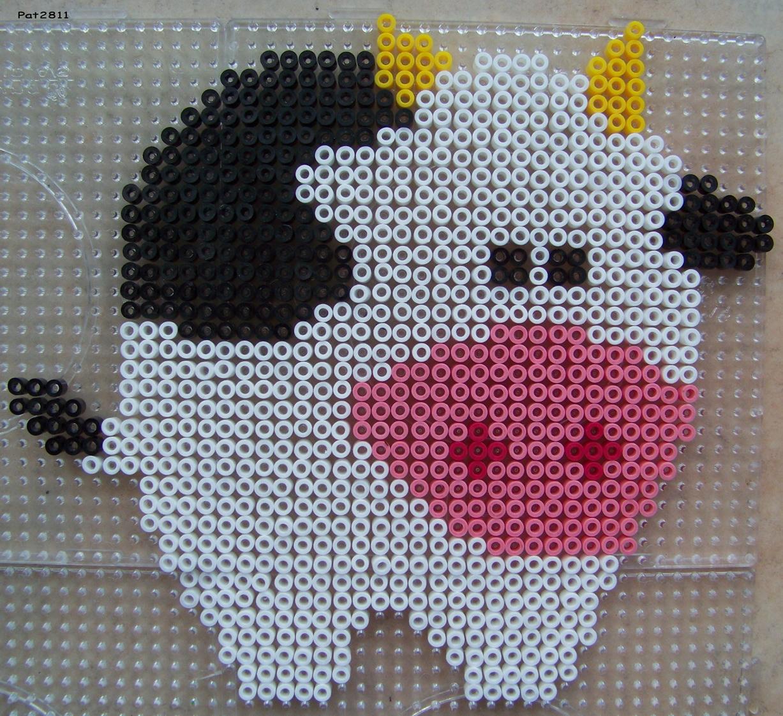 modele perle hama vache