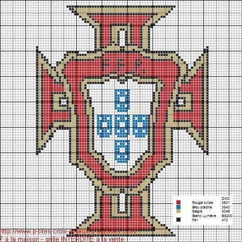 perle a repasser drapeau portugal