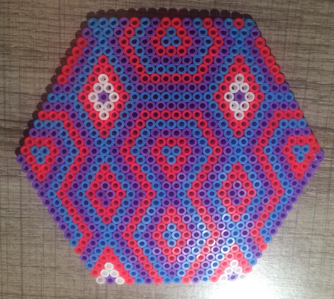perle hama hexagone