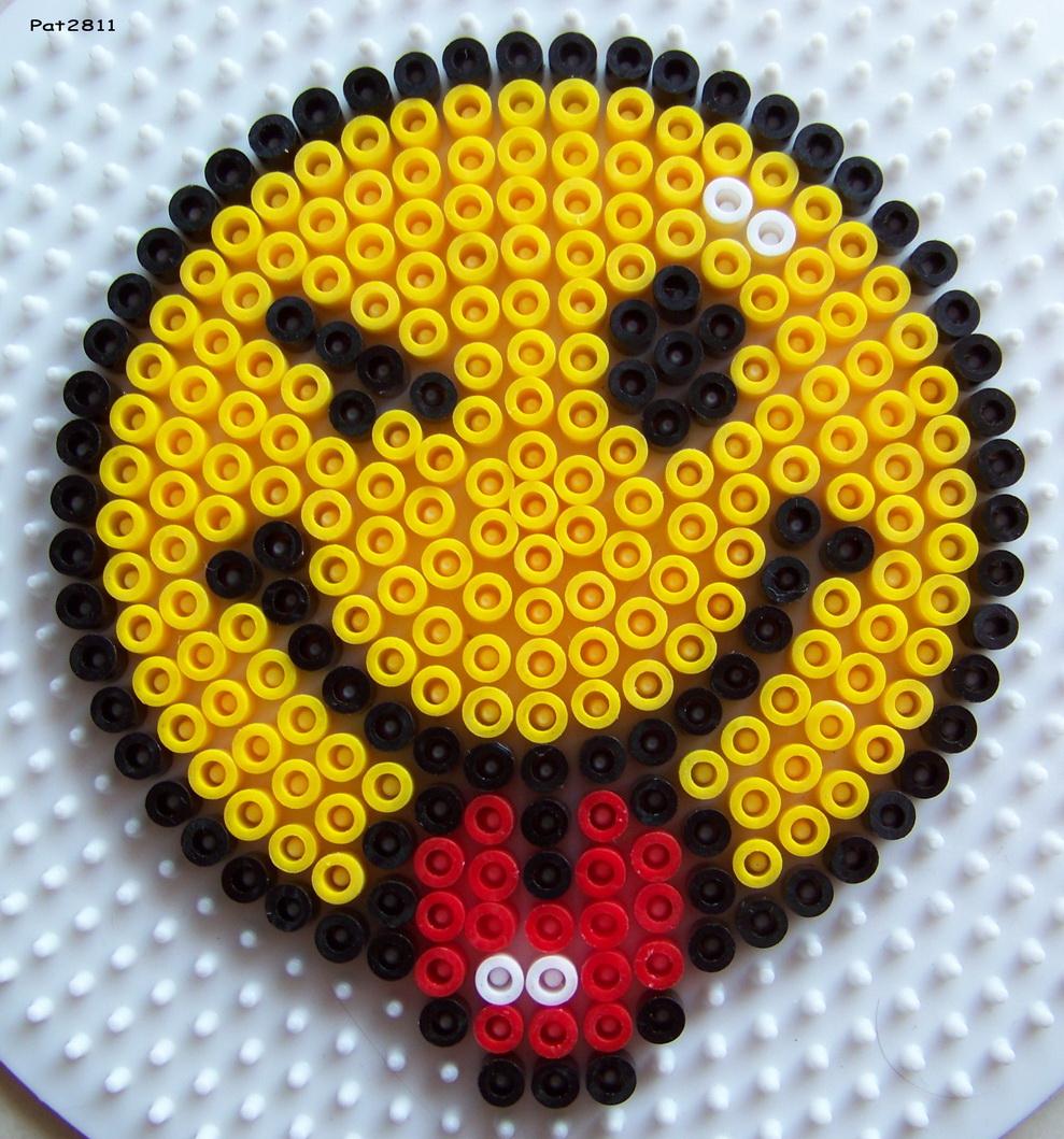 smiley en perle hama